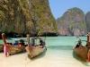 long tail boats, leonardo bay, thailand