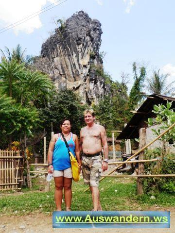 Vangvieng - wieder raus aus der Tropfstein Höhle in Laos