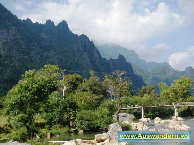 Vangvieng - Nebenfluss des Mekong in Laos