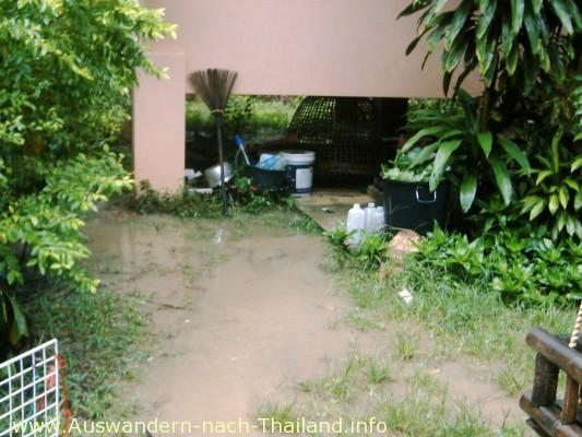 Unser Haus - Sintflut-artige Überschwemmung & Hochwasser in Thailand - Suratthani - Koh Samui!