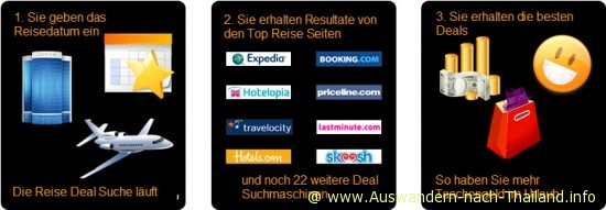 Die besten Hotel und Flug Deals Europa, Asien, Thailand und Weltweit.